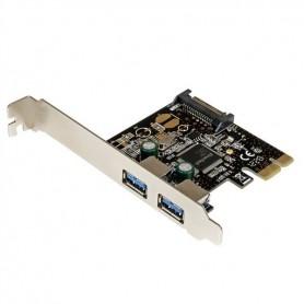 TARJETA CONTROLADORA PCI-E STARTECH 2 PTOS USB 3.0 + SATA POWER (LP)