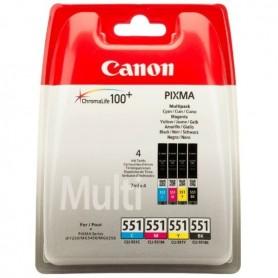 CARTUCHO PACK CANON CLI-551 NEGRO / CYAN / MAGENTA / AMARILLO