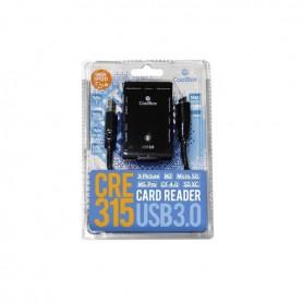 LECTOR DE TARJETAS EXTERNO COOLBOX USB 3.0 COLOR NEGRO