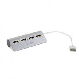 HUB USB COOLBOX 4 PTOS USB 2.0 ALUMINIO