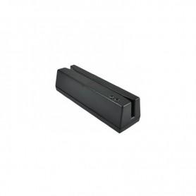 LECTOR TARJETAS BANDA MAGNETICA TYSSO MMSR-33-UB 3 PISTAS USB NEGRO