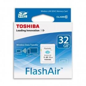 SD 32GB TOSHIBA FLASHAIR WIFI CLASE 10