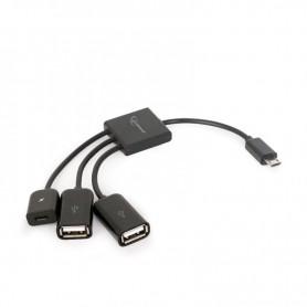 CABLE OTG MICRO USB A 2 USB HEMBRA CABLEXPERT  13CM