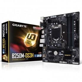 PLACA BASE GIGABYTE B250M-DS3H S-1151 4DDR4 64GB VGA+DVI+HDMI GBLAN 6USB3.0 6SATA3 M2 MATX