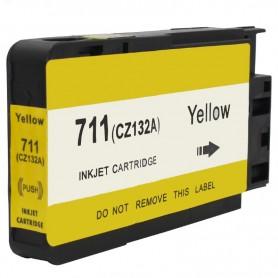 CARTUCHO TINTA COMPATIBLE HP 711 (CZ132A) AMARILLO(26 ML)