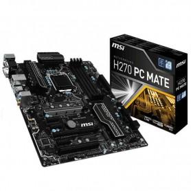 PLACA BASE MSI H270 PC MATE S-1151 4DDR4  DVI-D+HDMI+VGA GBLAN 8USB3.1 6SATA3 2M.2