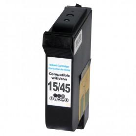 CARTUCHO TINTA COMPATIBLE  HP 15 / 45 (C6615DE / 51645AE) NEGRO (40 ML)