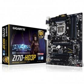 PLACA BASE GIGABYTE GA-Z170-HD3P S-1151 4DDR4 64GB VGA+DVI+HDMI GBLAN 2USB3.1 6SATA3 M.2