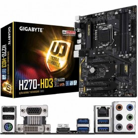 PLACA BASE GIGABYTE GA-H270-HD3 S-1151 4DDR4 64GB VGA+DVI+HDMI GBLAN 4USB3.0 6SATA3 ATX