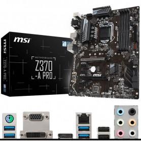 PLACA BASE MSI Z370-A PRO S-1151 8TH GEN. 4DDR4 2PCI-EX16 VGA+DVI+DP GBLAN 8*USB3.1 6*SATA6 ATX